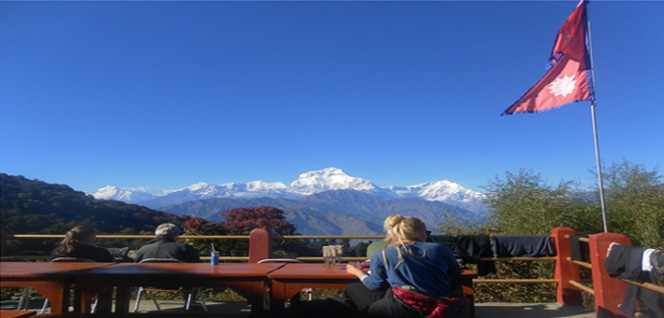 Enjoying Himalayan Panorama from Ghorepani -  himaland.com